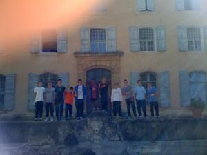 La section face à la Bastide du CREPS de Aix en Provence