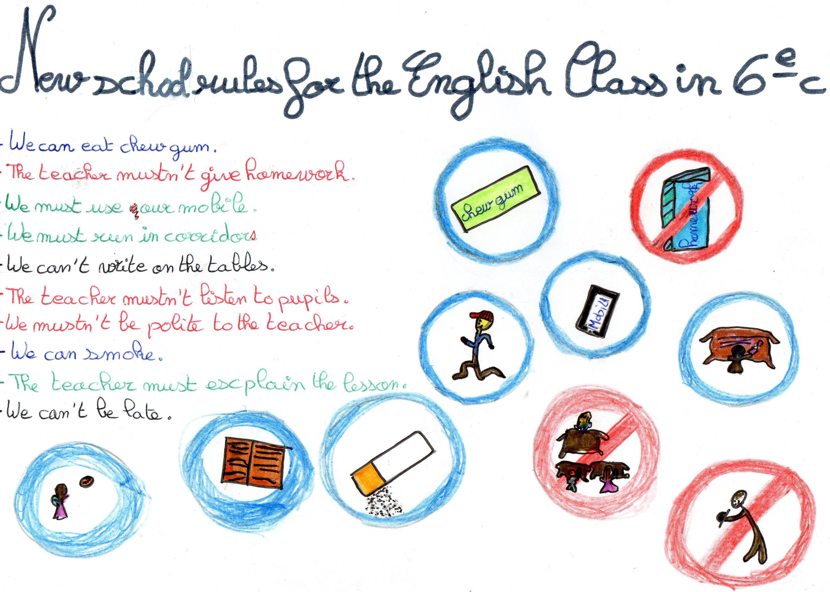 Exceptionnel Nouvelles règles de vie en cours d'anglais Collège & Lycée St  CM31